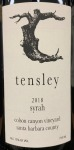 Tensley Colson Canyon Santa Barbara County Syrah 2018 (750ML)