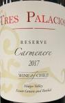 Tres Palacios Reserve Carmenere 2017 (750ml)