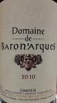 Domaine de Baronarques Limoux Rouge 2010 (750ml)