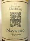 Navarro Chardonnay Mendocino County 2015 (750ML)