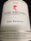 "Peter Michael ""Les Pavots"" Cabernet Sauvignon Knight's Valley Sonoma 2014 (750ML)"