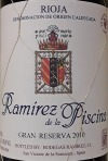 Ramirez de la Piscina Gran Reserva Rioja 2010 (750ml)