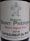 Domaine Saint-Prefert Chateauneuf-du-Pape Reserve Auguste Favier 2019 (750ml)