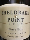 Sheldrake Point Winery Pinot Gris Finger Lakes 2015 (750ml)