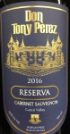 Don Tony Perez cabernet Reserva 2016 (750ml)