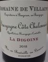 A. et P. De Villaine 'La Digoine' Bourgogne Cote Chalonnaise Rouge 2018 (.750)