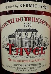 Chateau de Trinquevedel Tavel Rose 2020 (750ml)
