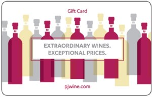 PJ Wine Gift Card - 150 Dollars