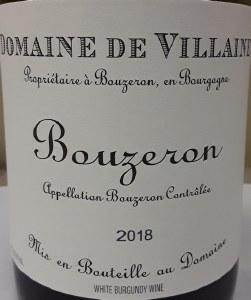 A. et P. De Villaine Bouzeron Aligote 2018 (.750)