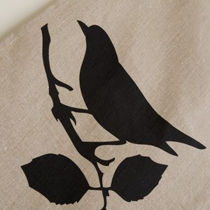 TeaTowel - Bird design, Linen