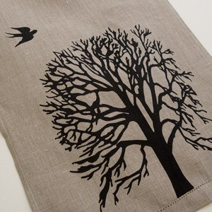 TeaTowel - Tree design, Linen