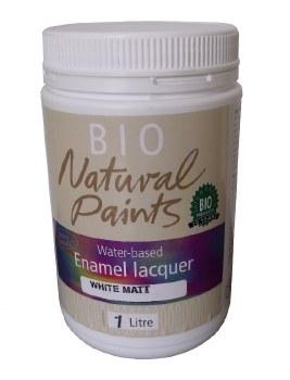 Bio Enamel Lacquer Matt White 1L Water-based