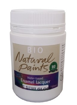 Bio Enamel Lacquer Semi Gloss White 250ml Water-based