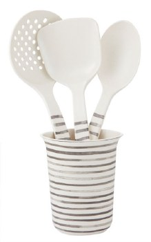 Bamboo Kitchen Utensils Set 3 with holder