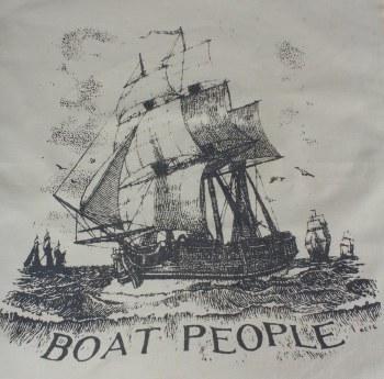Hemp Teatowel Boat People
