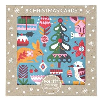 Christmas Cards Set 8 Bushland