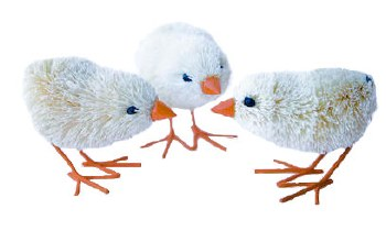 Easter Chicks - wire legs