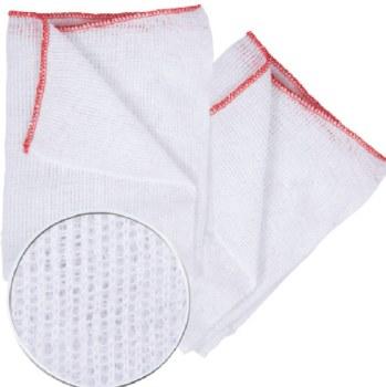 Dish Cloth Cotton Knit Red edge