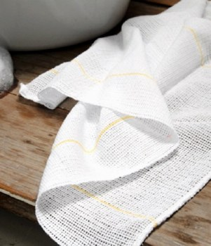 Dish Cloth Open Weave Yellow Thread