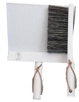 Broom Dustpan and Brush White