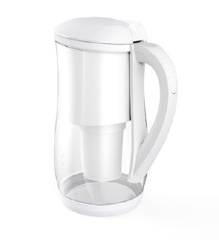 Ecobud Glass Water Filter Jug White
