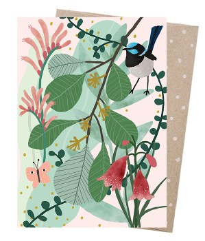 Greeting Card - Fairy Wren's Heath