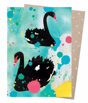 Greeting Card - Swan Lake