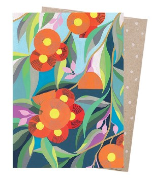 Greeting Card - Down the Street