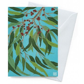 Greeting Card - Summer Gumleaves