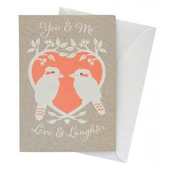 Greeting Card - Kookaburra Love