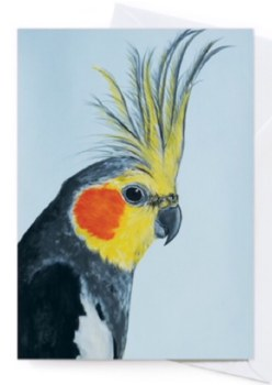 Greeting Card - Louis Cockatiel