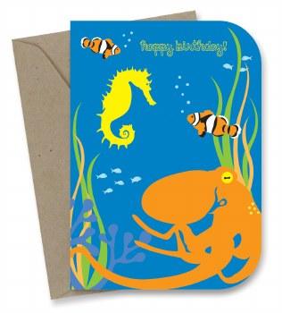 Greeting Card - Octopus Garden