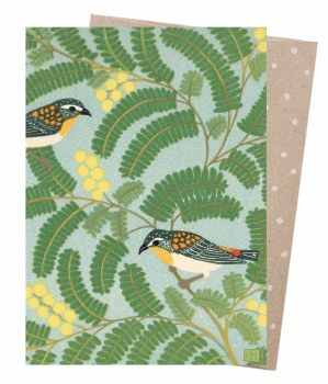 Greeting Card - Pardalote & Wattle