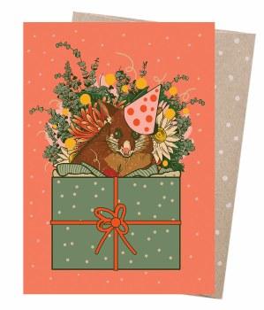 Greeting Card - Possum Party
