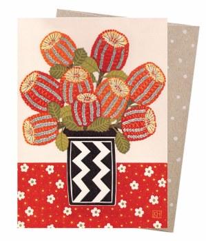 Greeting Card - Scarlet Banksias