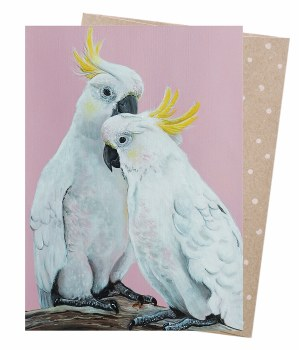 Greeting Card - Sulphur Crested Pair