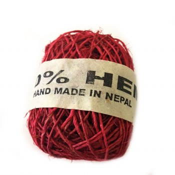 Hemp Ball of Twine Small Fuchsia