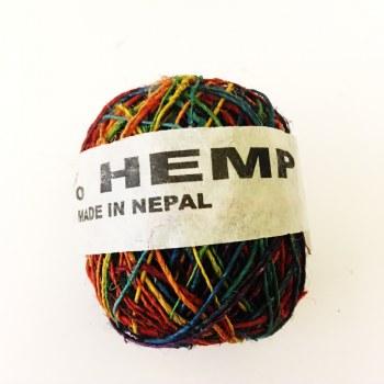 Hemp Ball of Twine Small Rainbow