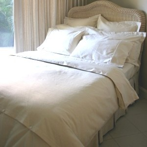 Hemp Bed Linen 1 Fitted Queen White