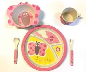 Childs Dinner Set Butterfly