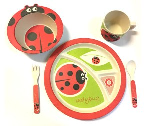 Childs Dinner Set LadyBug
