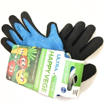 Kids Garden Gloves Latex Happy Vege