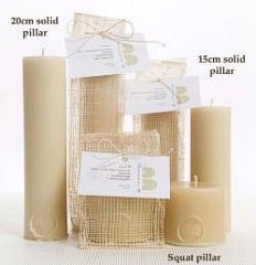 QueenB Solid Pillar Candle 15cm Candle