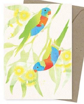 Greeting Card - Rainbow Lorikeets