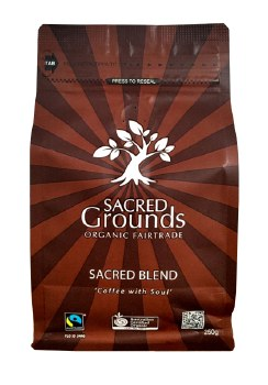 Coffee Sacred Grounds Sacred Blend of Organic and Fair Trade