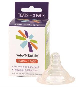Safe-T-Bottle Teats 3pack Slow