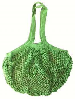 Shopping Bag Mesh Green Organic Cotton