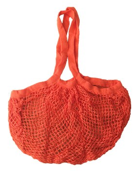 Shopping Bag Mesh Orange Organic Cotton