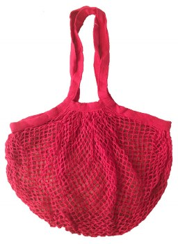 Shopping Bag Mesh Red Organic Cotton