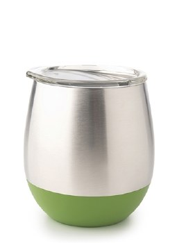 Insulated Tumbler / Stemless Wine glass Green 8oz UKonserve